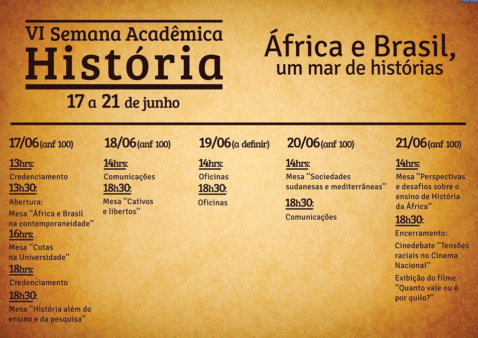 VI Semana Acadêmica de História - UFPR