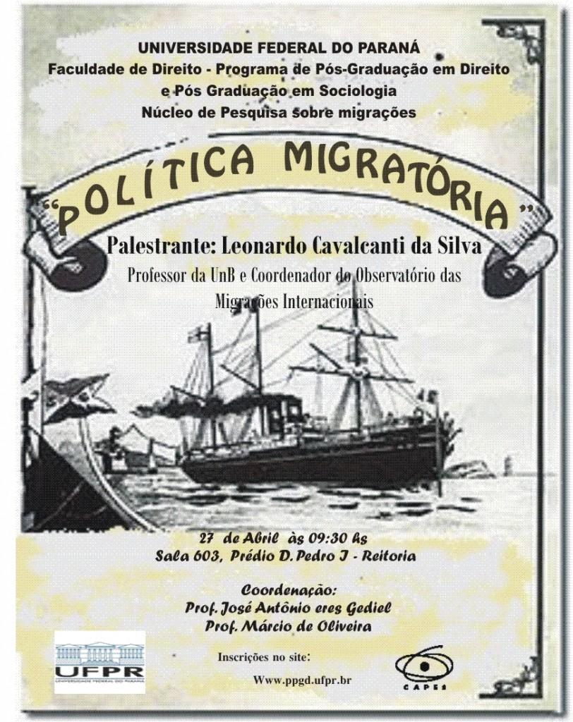 Evento política migratórias.